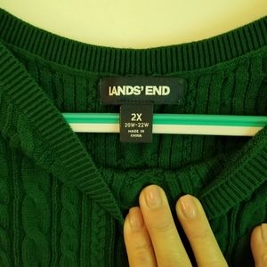Cabled 100% cotton sweater